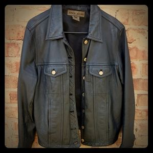 Vintage unisex Leather Size Medium Moto Jacket